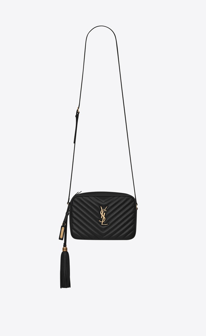 Snint Laurent Lou Camera Bag in Quilted Leather