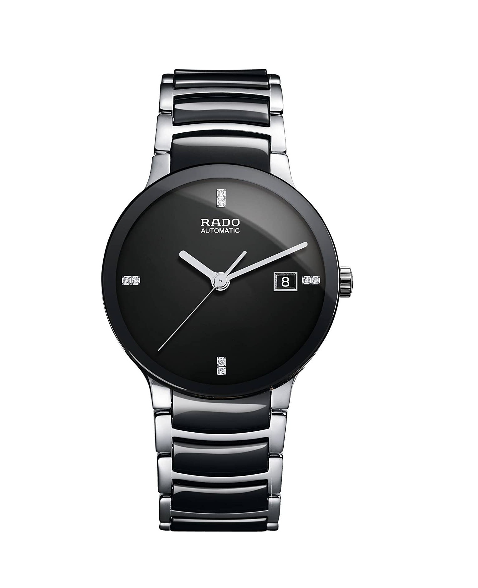 Rado Centrix Jubile Black Dial Stainless Steel Automatic Watch