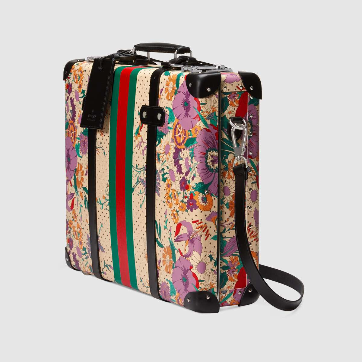 Gucci Globe-Trotter briefcase with floral print