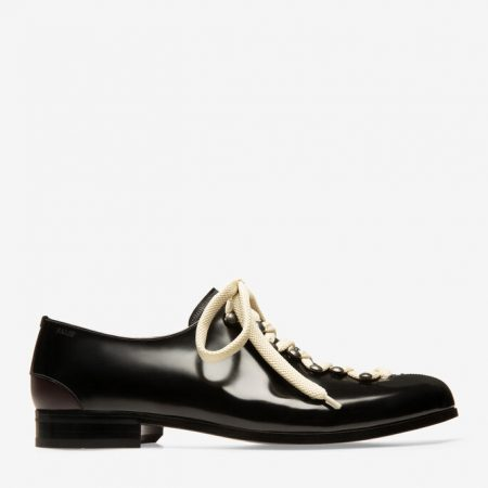 Bally SALINGER MENS CALF LEATHER OXFORD lace ups IN BLACK