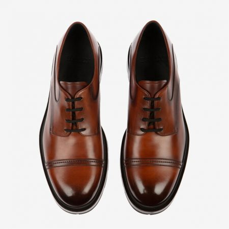 Bally CORVIN MENS BRUSHED CALF LEATHER DERBY lace ups IN BROWN
