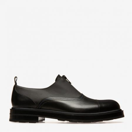 Bally COMISSAR MENS PLAIN CALF LEATHER OXFORD lace ups IN BLACK