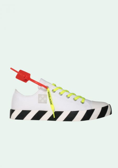 OFF WHITE LOW TOP VULCANIZED SNEAKERS