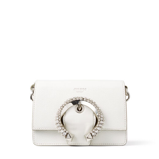 Jimmy choo MADELINE SHOULDER SMALL BAG with Crystal Buckle