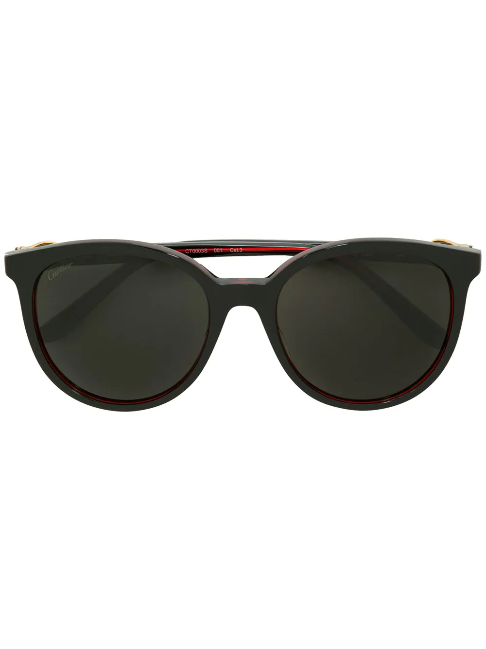 Cartier tinted oversized sunglasses